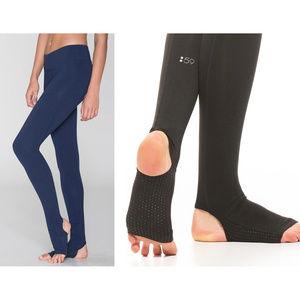 Splits59 Tendu Grip stirrup tights in dark blue
